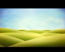 卡通草原视频素材