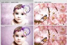 数码照片转粉笔画效果动作