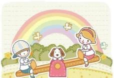 漫画儿童 卡通儿童 矢量 EPS格式 477