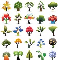 各种矢量树