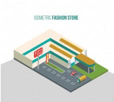 卡通时尚商店立体图
