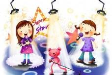 快乐儿童 卡通漫画 韩式风格 分层 PSD_0102