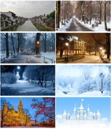 冬季风景背景