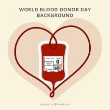 世界献血日的可爱背景