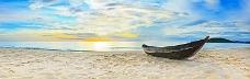 沙滩唯美夕阳背景banner