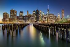 美丽曼哈顿夜景