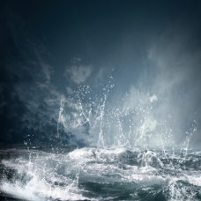 水珠濺起主圖背景