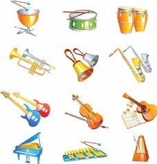 音乐乐器图标设计