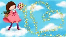 快乐儿童 卡通漫画 韩式风格 分层 PSD_0080