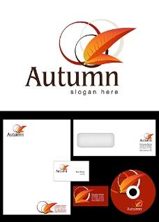 红叶和圆圈logo设计