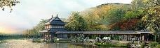 中国园林banner创意设计