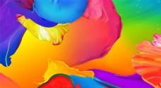 明亮色彩油漆壁纸高清大图