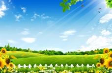 四月春季背景