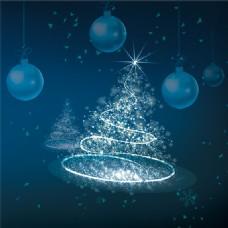 圣诞节浪漫彩灯圣诞树主图