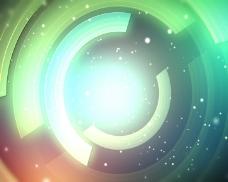唯美粒子光环背景素材视频素材