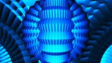 蓝色霓虹背景视频素材