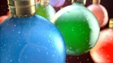 圣诞彩球展示视频素材