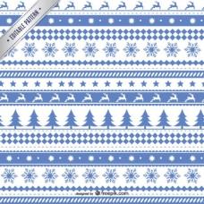 白色和蓝色圣诞图案