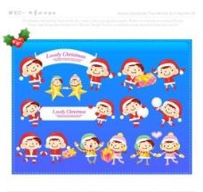 漫画儿童 卡通儿童 矢量 AI格式_0897