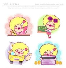 漫画儿童 卡通儿童 矢量 AI格式_0865
