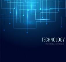 蓝色科技背景矢量素材图片