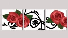 玫瑰花纹无框画