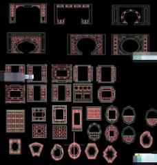 AutoCAD中式花格DWG文件分享