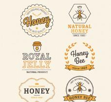 创意蜂蜜标签矢量素材图片