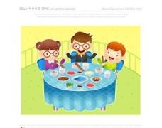漫画儿童 卡通儿童 矢量 AI格式_0934