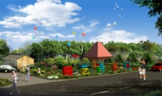 游乐园入口图片