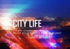 精致城市夜景banner海报图片
