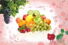 温馨水果无框画餐厅装饰画