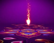 具有民族特色的火花装饰舞台LED视频