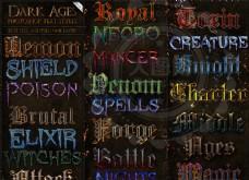 中世纪暗黑风格艺术字PS样式V2