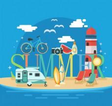 沙滩旅行素材