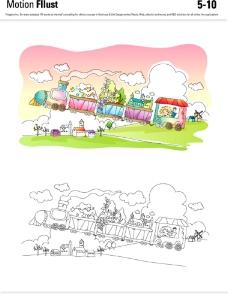 儿童梦幻插画图片