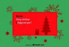 用雪花背景的复古圣诞旗帜