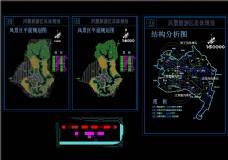 某风景旅游区总体CAD景观图纸