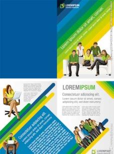 创意欧美商务画册矢量素材图片