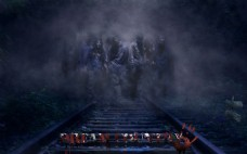 铁路 ,深林海报  恐怖  人物