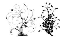 花纹花藤笔刷素材