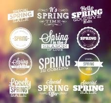 12款春季促销标签矢量素材