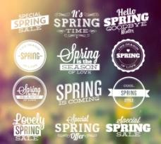 春季促销标签图片