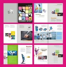 数码科技画册设计矢量素材