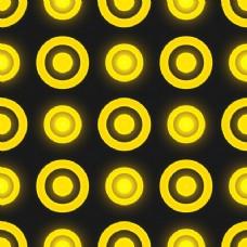 黄色的圆圈图案