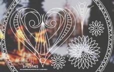 手绘创意花朵装饰PS笔刷