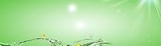 护肤品绿色水中唯美背景banner