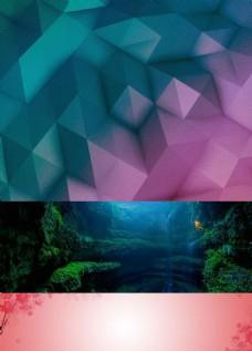 几何立体晶格化背景