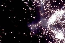 绚烂的火花粒子转场素材视频素材