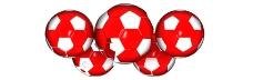 五个足球视频素材